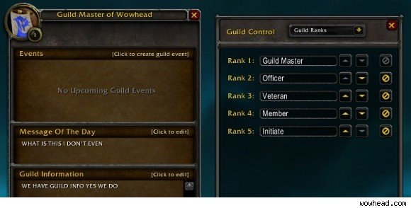 Guild rank UI