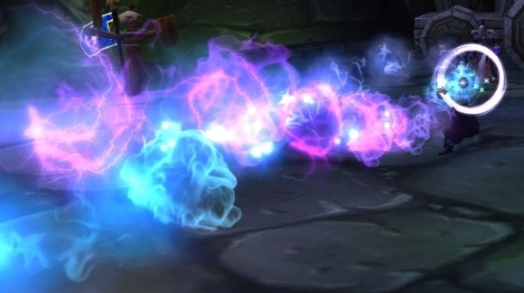 Mage casting something very arcane-looking