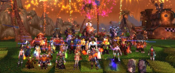 A guild and fireworks