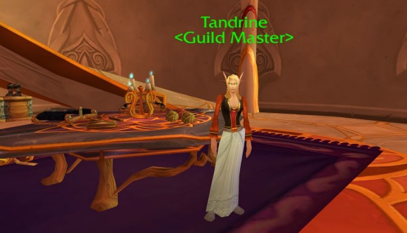 The Guild Master NPC in Silvermoon