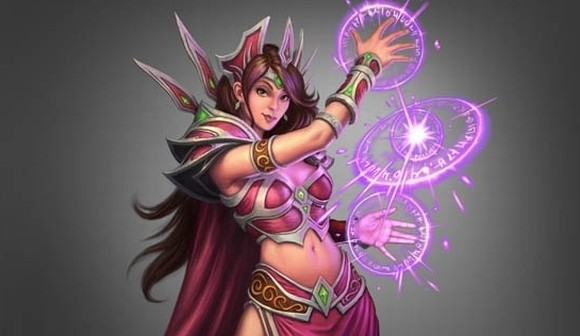 female mage blizzard official art