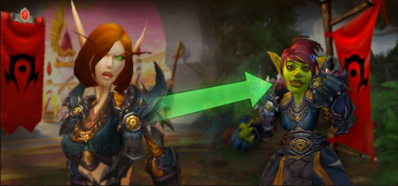 a blood elf becomes a goblin