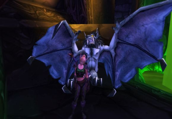 giant bat attacking blood elf