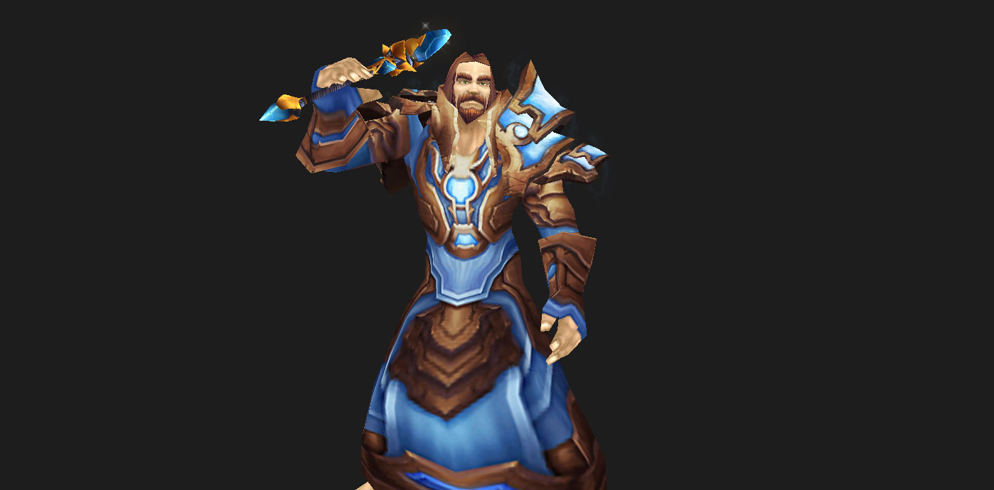 Aldor Regalia (Mage) with Blue Diamond Witchwand