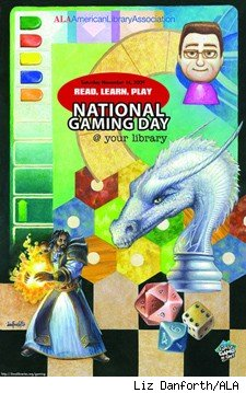 ALA National Gaming Day poster