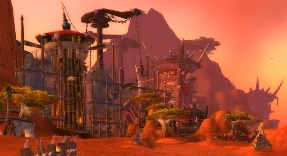 orgrimmar's gates under construction