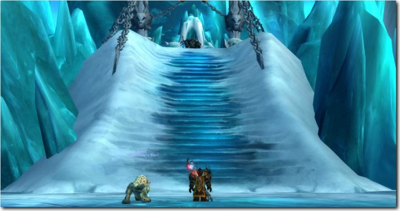 a lone hunter stands before the lich king