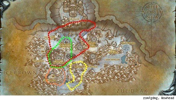 Time-Lost Proto-Drake flight paths