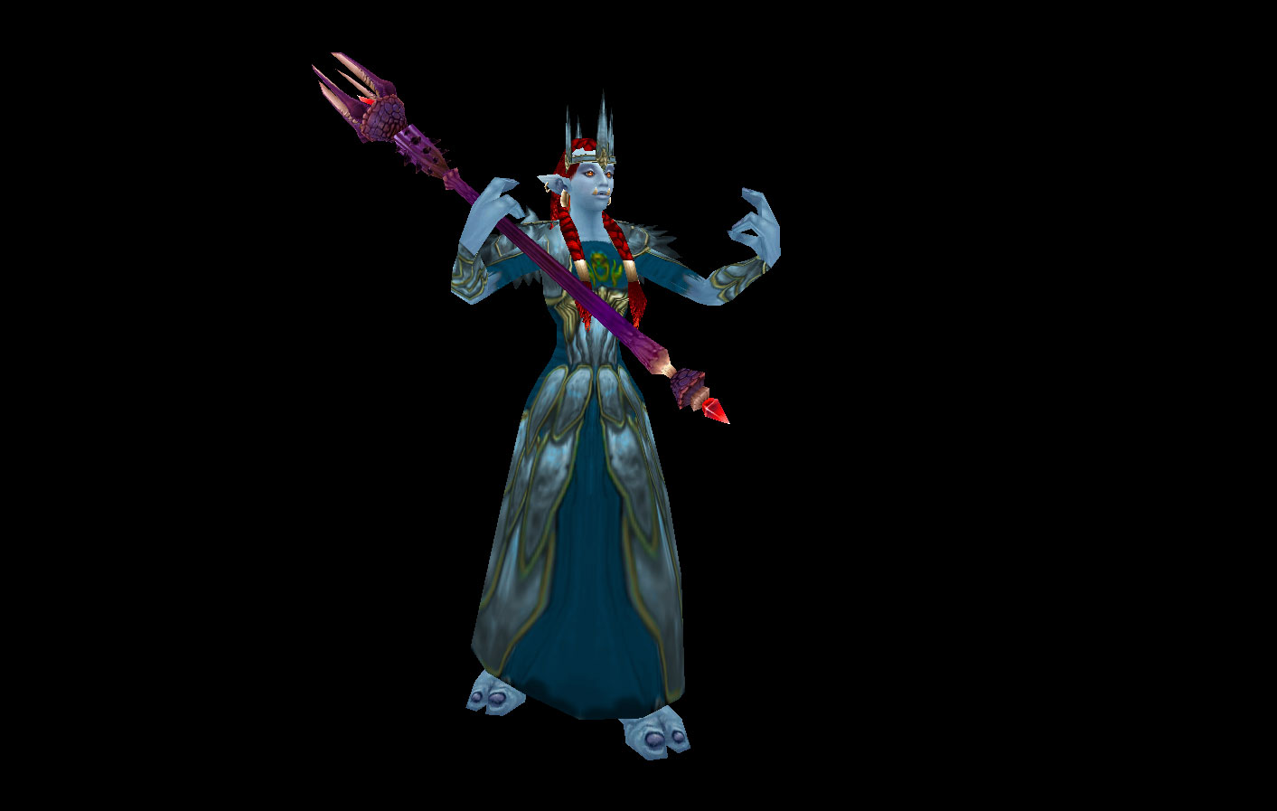Enigma Vestments (Mage) and Blessed Qiraji Acolyte Staff