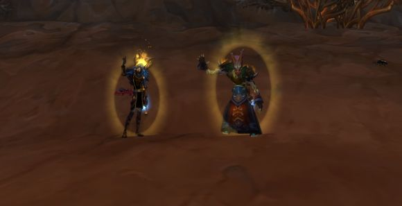 priest and paladin waving