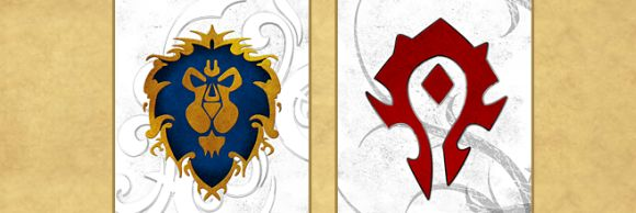 Alliance and Horde crests