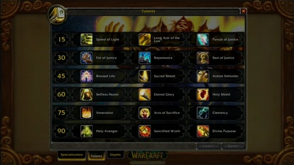 New paladin talent tree