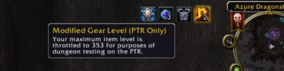 Modified Gear Level on the most recent PTR.