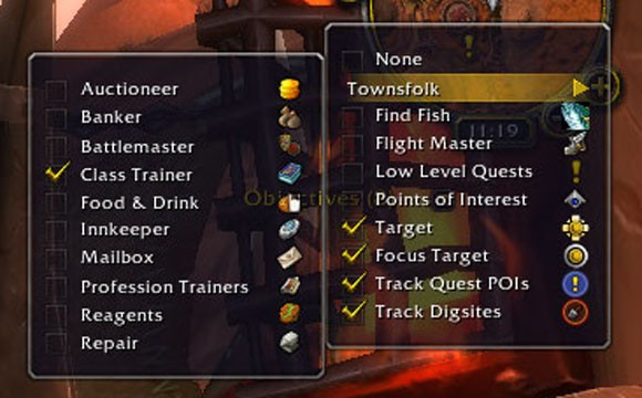 New townsfolk tracking submenu