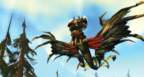 A tauren on a dragonhawk