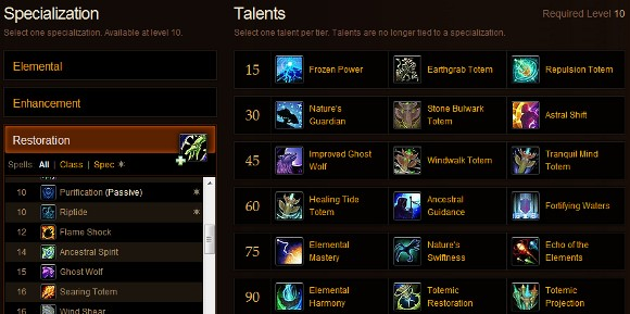 Restoration Talent Calculator
