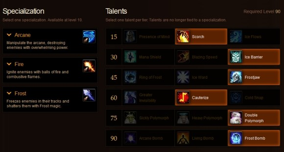 MoP mage talent build