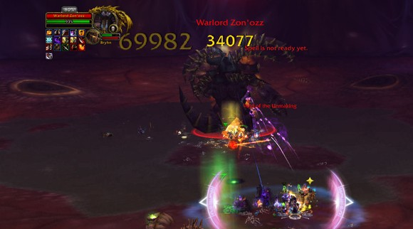 Fighting Warlord Zon'ozz