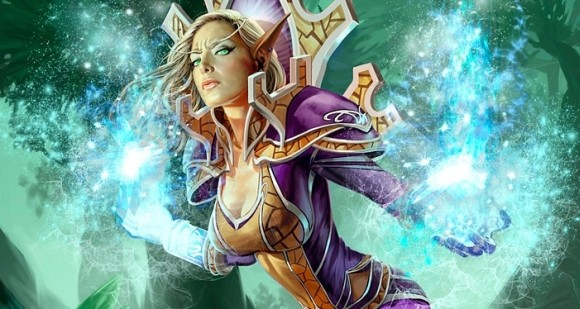 Jaina in a pose that doesn't even make sense