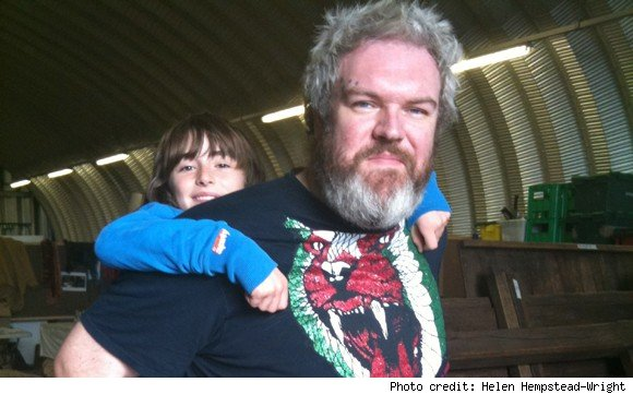 Backstage at Game of Thrones: Hodor and Bran