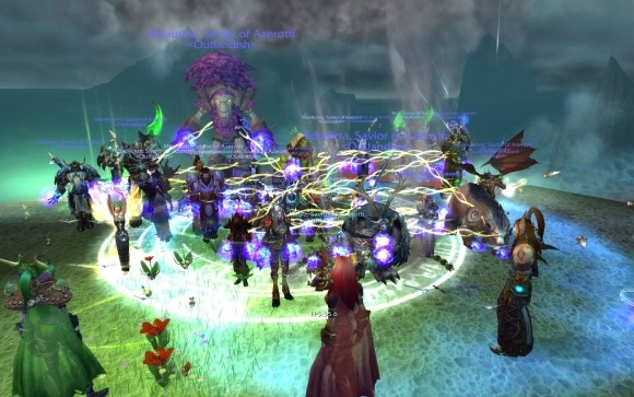 Outlandish's guild screencap of their victory over heroic madness