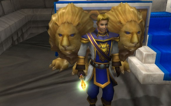 Teen prince Anduin Wrynn in Stormwind