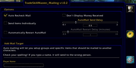 tradeskillmaster mailing addon