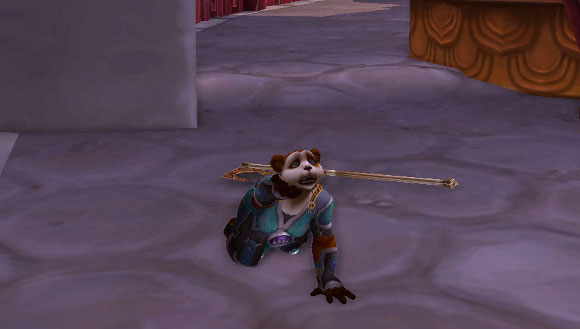 Female pandaren begging Image