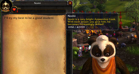Mists of Pandaria Beta Nomi, the cook's apprentice ANY
