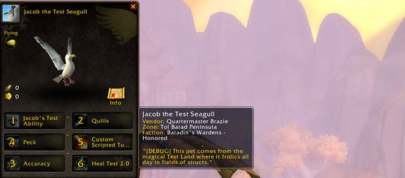 Mists of Pandaria Beta Pet Journal marks the return of flavor text