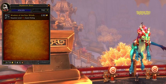 Mists of Pandaria Beta Level 90 flying and where to get it