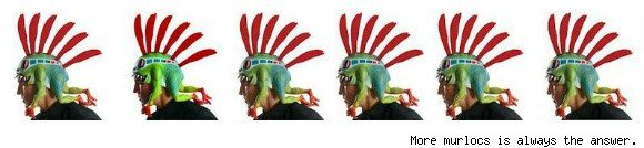 Six murloc headpieces