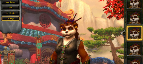 Mists of Pandaria New hairstyles and earrings for pandaren females