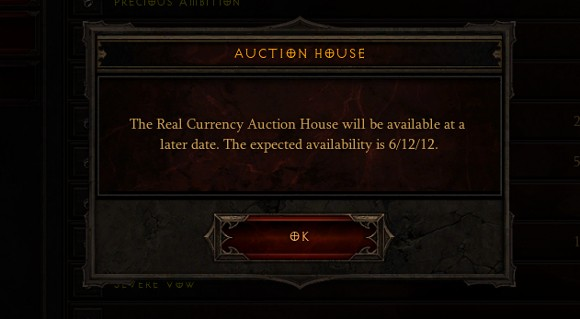Diablo 3 Authenticator required for RealMoney Auction House