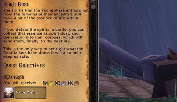 Mists of Pandaria Beta Valor daily quests