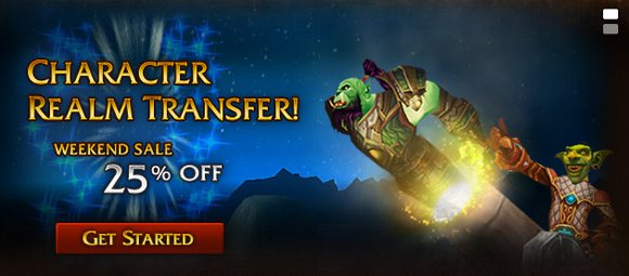 25% off Character Transfer this weekend!