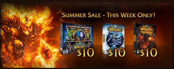 WoW on sale From vanilla to Cataclysm in $30