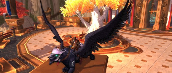 Obsidian Nightwing now available as ReferAFriend mount