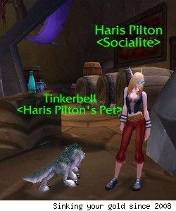 Haris Pilton and her dog Tinkerbell
