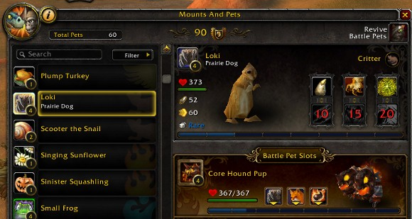 Comprehensive Battle Pet database from Alternative
