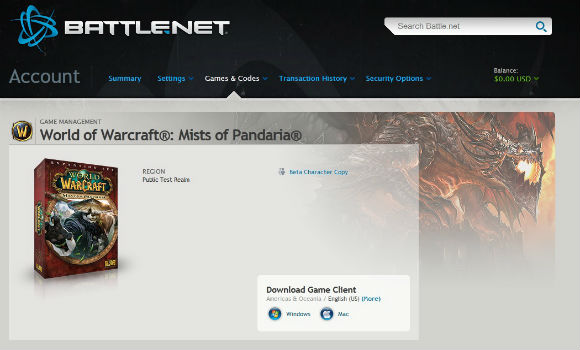 Digital preorders for Mists of Pandaria available soon