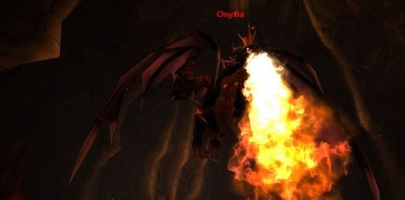Onyxia breathes deeply