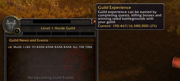 Patch 504 guild experience and reputation changes ANY