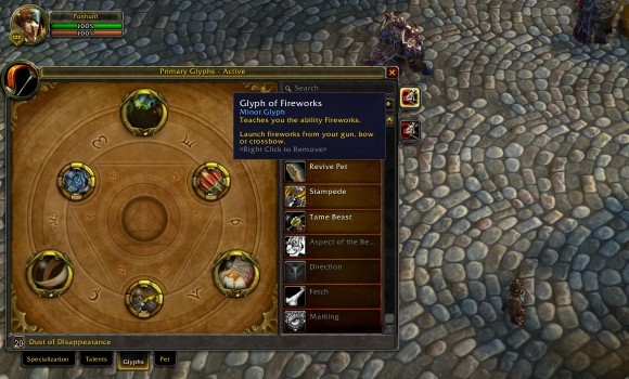 Hunter glyph changes in patch 504