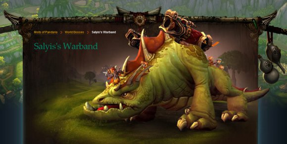 Mists of Pandaria World Boss Salyis's Warband