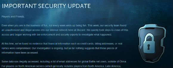 Important security update from Blizzard