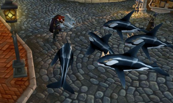 Around Azeroth Land sharks TUESDAY