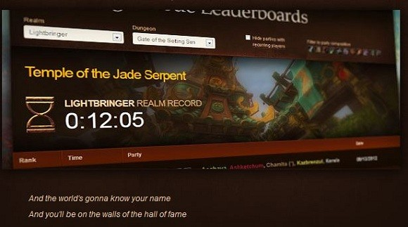 Challenge Mode Leaderboards live on Battlenet