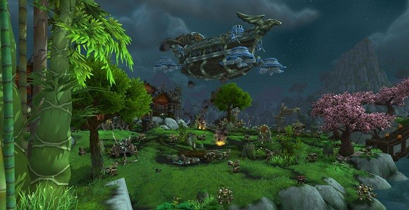 An airship in Jade Forest