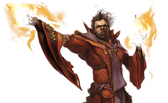 Human fire mage